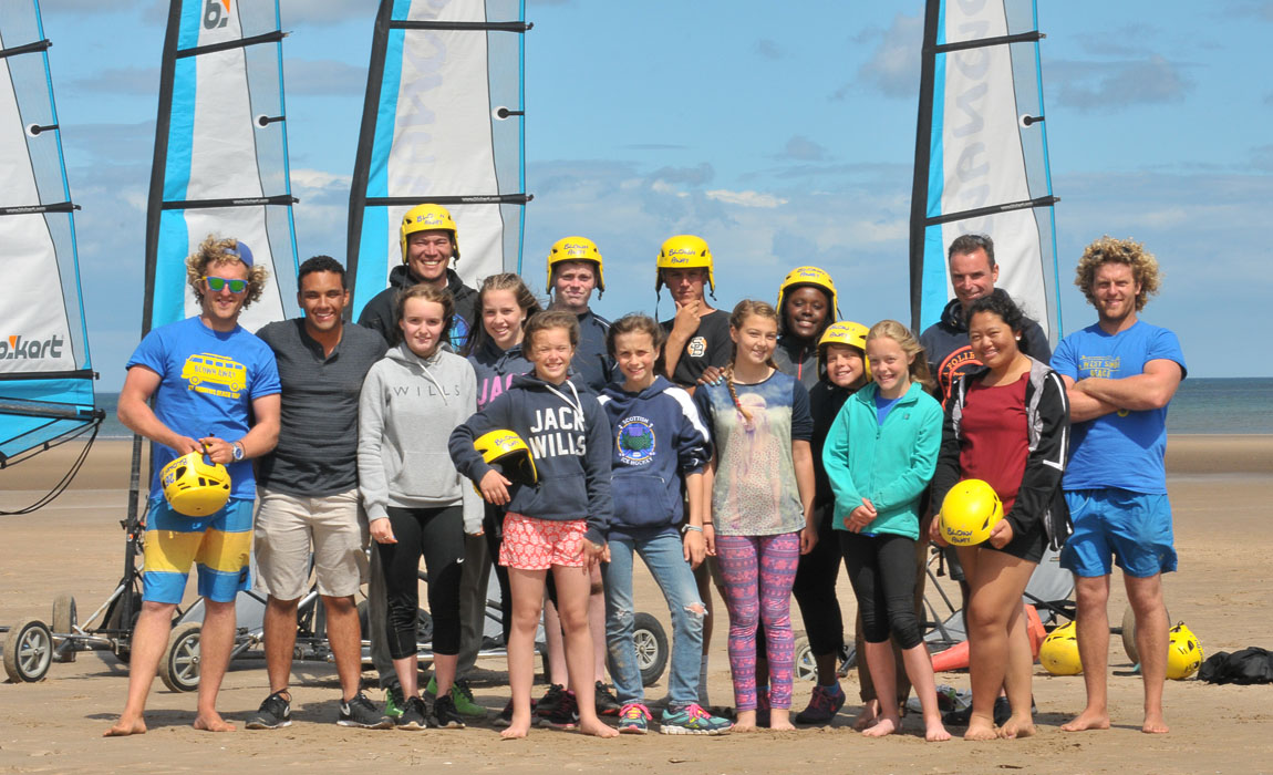 New Links participants 2016 after enjoying an afternoon with Blown Away, a group specialising in beach activiites