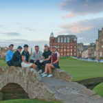 New Links 2017 participants on the Swilcan Bridge, Old Course, St Andrews