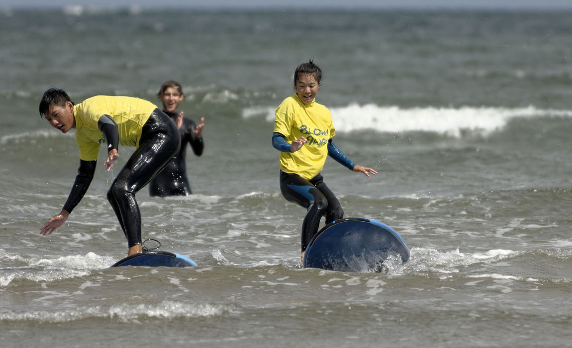 New Links participants 2018 surfing